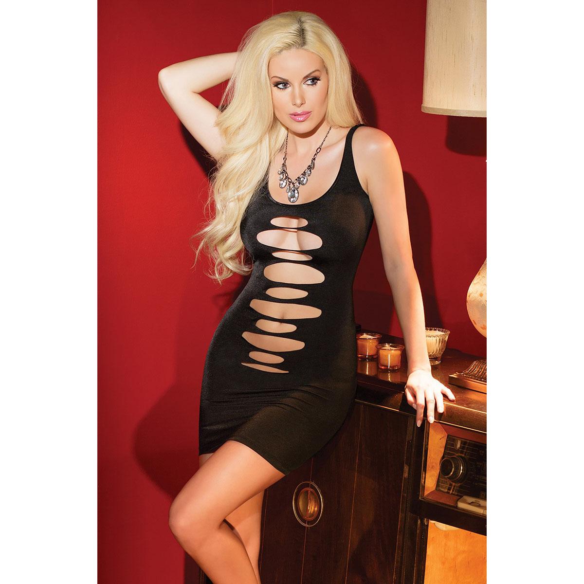 Черное двустороннее платье на бретелях